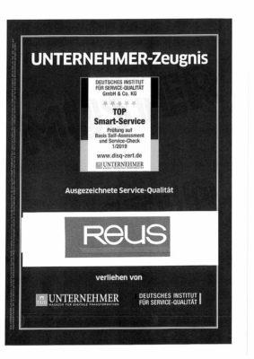 Zertifikat-fuer-Glas-Reus-fuer-einen-top-Service-verliehen-von-DUB-und-DISQ